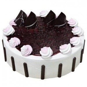 Blueberry White Forest Fresh Cream Cake
