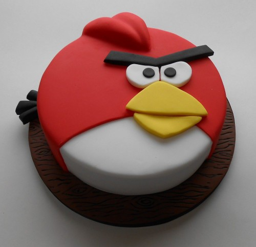 Angry Birds RED Image Fondant Birthday cakes