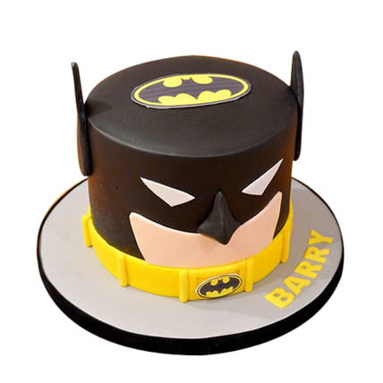 Batman mask photo printed birthday cakes