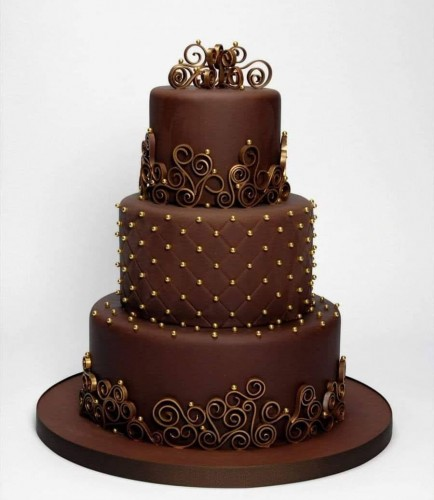 3 Tier Chocolate Wedding Cakes in Chennai